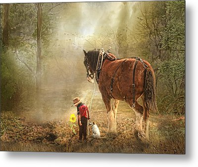 The Seeds We Sow Metal Print by Trudi Simmonds