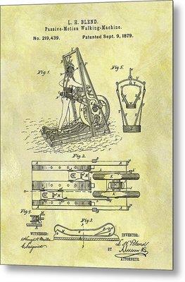 1879 Treadmill Patent Metal Print