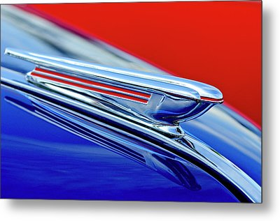 1938 Chevrolet Hood Ornament 2 Metal Print by Jill Reger