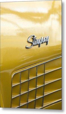 1972 Chevrolet Corvette Stingray Emblem Metal Print by Jill Reger
