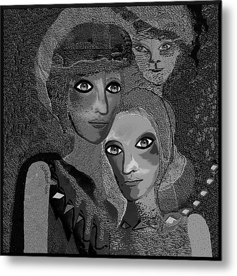 Metal Print featuring the digital art 451 - To Lean On by Irmgard Schoendorf Welch