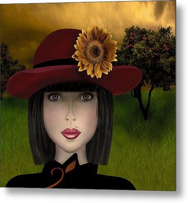 Metal Print featuring the digital art Abigail by Katy Breen