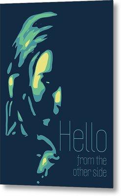 Adele Metal Print by Greatom London