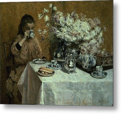 Afternoon Tea Metal Print by Isidor Verheyden