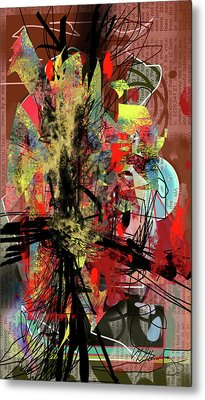 Agitation Metal Print
