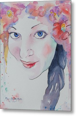 Metal Print featuring the painting Alisha by Mary Haley-Rocks