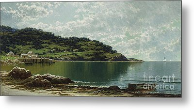 Along The Maine Coast Metal Print by Alfred Thompson Bricher