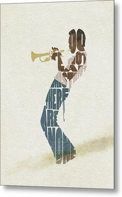 Miles Davis Typography Art Metal Print