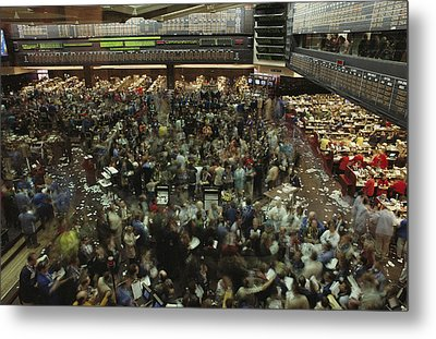 An Elevated View Of Traders Metal Print