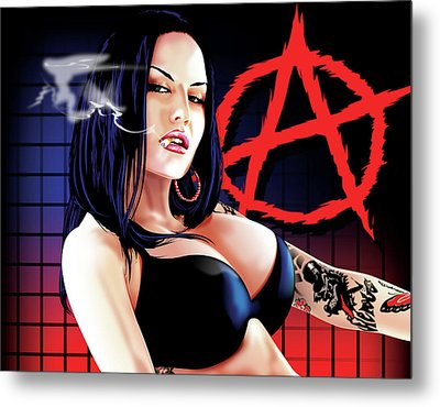 Anarchy Metal Print by Brian Gibbs