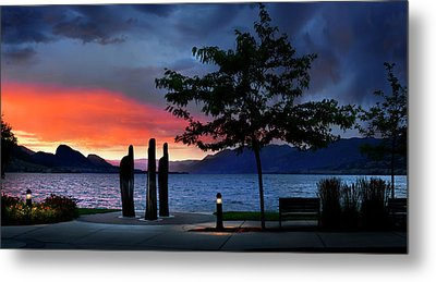 Metal Print featuring the photograph A Sunset Story by John Poon