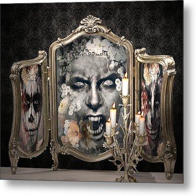 Antique Vampire Paintings Metal Print