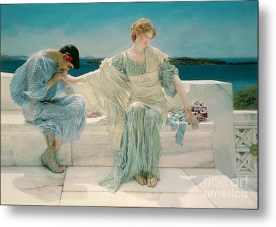Ask Me No More Metal Print by Sir Lawrence Alma-Tadema