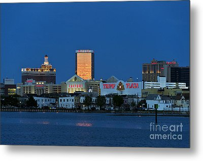 Atlantic City Skyline Metal Print by John Greim