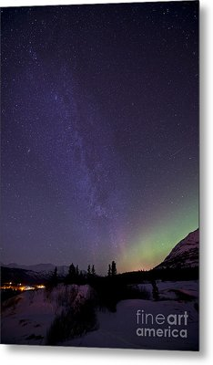 Aurora Borealis And Milky Way Metal Print by Jonathan Tucker
