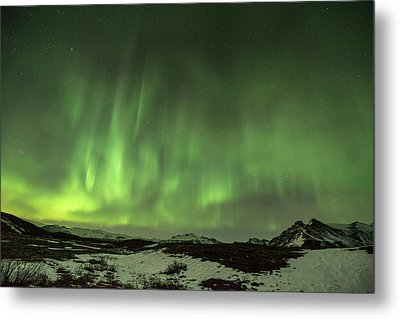 Aurora Borealis Or Northern Lights. Metal Print by Andy Astbury