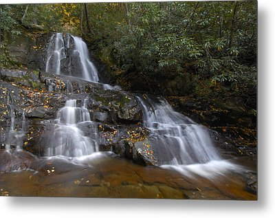 Autumn At Laurel Falls Metal Print by Darrell Young