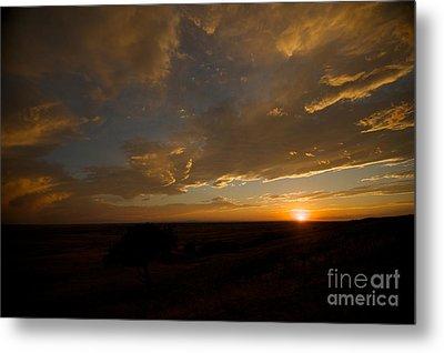 Badlands Sunset Metal Print by Chris Brewington Photography LLC