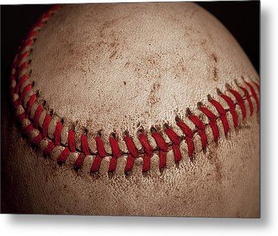 Baseball Seams Metal Print