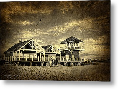 Beach House Metal Print by Lourry Legarde
