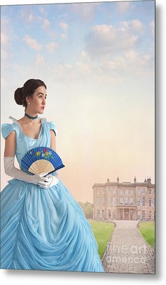Beautiful Young Victorian Woman Metal Print by Lee Avison
