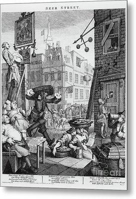 Beer Street Metal Print by William Hogarth