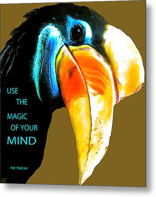 Believe Toucan Metal Print