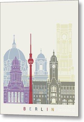 Berlin Skyline Poster Metal Print by Pablo Romero