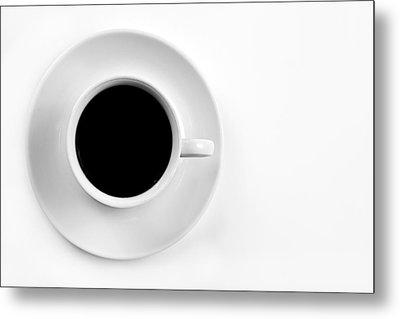 Black Coffee Metal Print