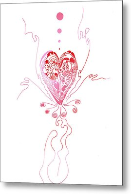 Blossoming Love Metal Print
