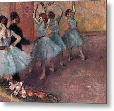Blue Dancers Metal Print by Edgar Degas