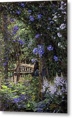 Blue Garden Respite Metal Print