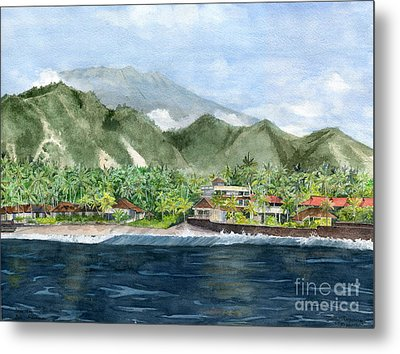 Metal Print featuring the painting Blue Lagoon Bali Indonesia by Melly Terpening