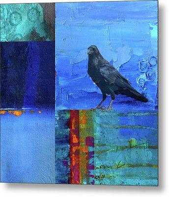 Blue Raven Metal Print by Nancy Merkle