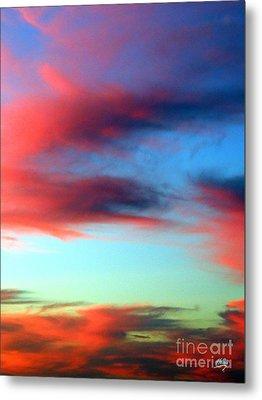 Blushed Sky Metal Print by Linda Hollis