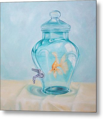 Bottled Up Metal Print by Irene Corey
