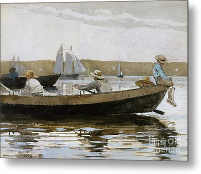 Boys In A Dory, 1873  Metal Print