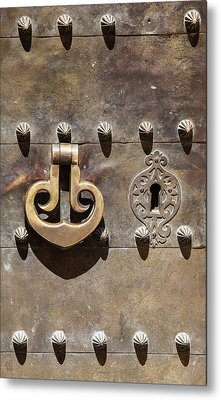 Brass Door Knocker Metal Print