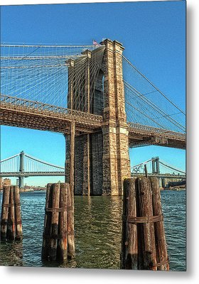 Brooklyn Bridge Metal Print by Francis Dangelo