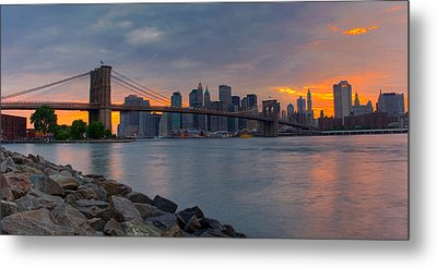 Brooklyn Sunset Metal Print by David Hahn