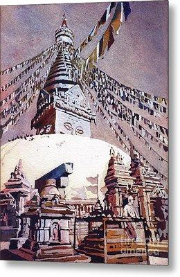 Buddhist Stupa- Nepal Metal Print by Ryan Fox