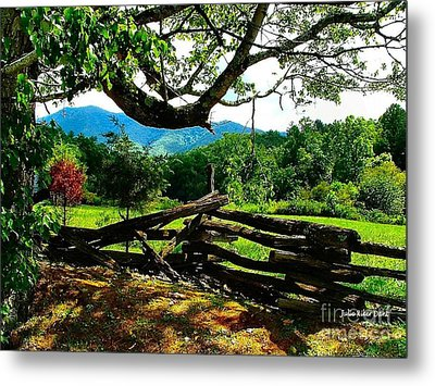 Cade's Cove Split Rail Metal Print