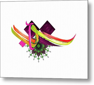 Calligraphy 30 4 Metal Print by Mawra Tahreem