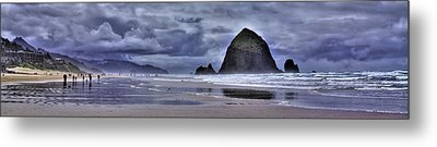 Cannon Beach Panorama Metal Print