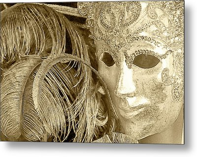 Carnival Mask Metal Print by John Hix