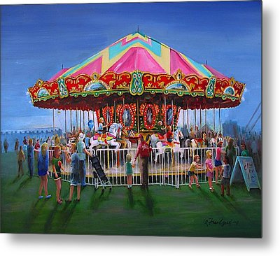 Carousel At Dusk Metal Print