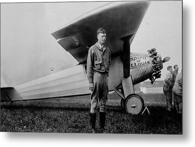 Charles Lindbergh 1902-1974 Metal Print by Everett