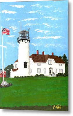 Chatham Lighthouse Painting Metal Print by Frederic Kohli