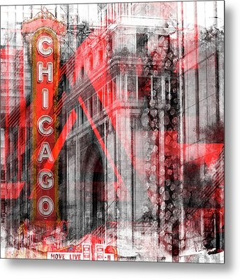 Chicago Geometric Mix No 4 Metal Print