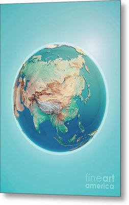 China 3d Render Planet Earth Metal Print